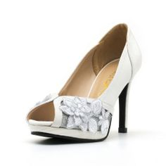 Radiance is a four inch wedding heel with platform. Made from french lace, satin and other man made materials. This amazing wedding shoe comes with genuine back counter lining.