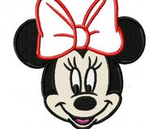 Minnie Mouse Applique Embroidery Designs - Instant Download