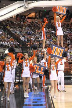 cheerleaders; University of Illinois