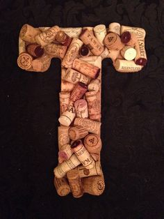 Cork letter: T by sabinesuglyducklings on Etsy