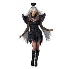 New Black Angel Sexy Angels Dress Black Angel Demon Sexy Adult Costume Cosplay