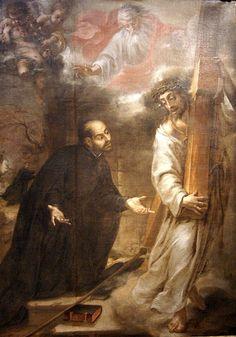 Aparición de Cristo a san Ignacio camino de Roma. Valdés Leal