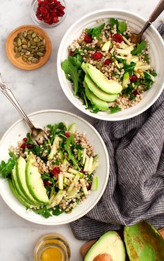 Buckwheat, Apple, Cranberry Avocado Salad from the Blissful Basil cookbook.