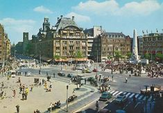 Amsterdam: De Dam omstreeks 1971
