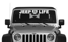 Jeep Life Window Decal - Vinyl Decal