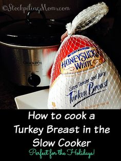 With the holidays approaching here is a great alternative to making your turkey in the oven you can cook it in your crockpot! Here is some simple tips and directions on How to cook a Turkey Breast in the Slow Cooker.