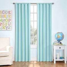 "Eclipse Kids Microfiber Blackout Window Curtain Panel - Plein Air (84"")"