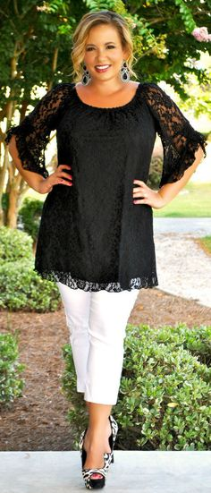 Perfectly Priscilla Boutique - Positively Perfect Tunic (Black), $40.00 (http://www.perfectlypriscilla.com/positively-perfect-tunic-black/)