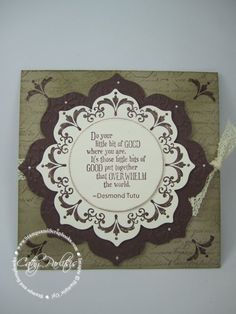 SU! Daydream Medallions stamp set and Floral Frames Framelits - Cathy Parlitsis