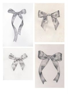 Ribbon Drawings or Sketches Drawing Projects, Drawing Lessons, Drawing Techniques, Art Lessons, High School Art, Middle School Art, Bow Drawing, Art Assignments, Observational Drawing