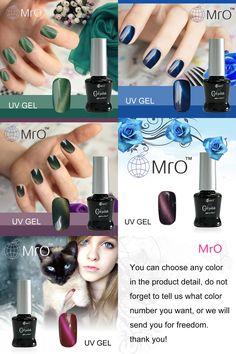 [Visit to Buy] MRO soak off cat nails gel lucky uv gel nail polish set gel nail lacquers nail glue professional esmaltes permanentes 1 piece #Advertisement