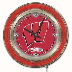 Holland 15 in. College Wall Clock - CLK15WISC-W