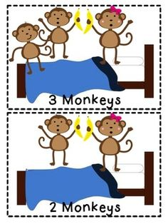 five little monkey 39 s templates