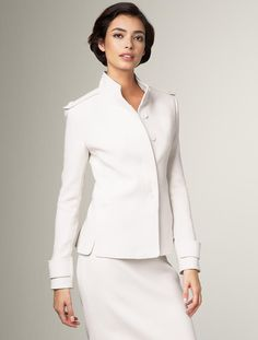 sophisticated white suit