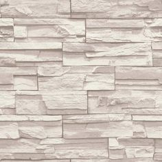 Flat Stone Wallpaper in Cream and Taupe by York Wallcoverings