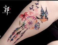 Bildergebnis für watercolor tattoo dreamcatcher