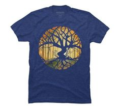 Druid Tree Men's Large Royal Heather Graphic T Shirt - Design By Humans, Blue