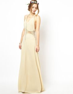 Image 1 ofJarlo Cami Strap Maxi Dress with Lace Insert