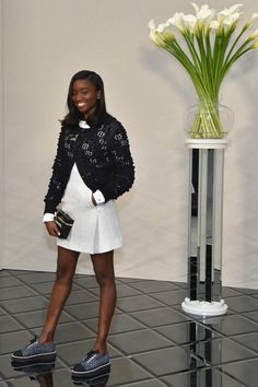 Karidja Toure attends the Chanel  Haute Couture Spring Summer 2017 show as part of Paris Fashion Week on January 24, 2017 in Paris, France.