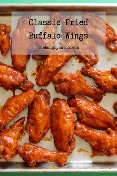 These classic wings are simply seasoned, pan-fried to perfection, and tossed in a luscious Buffalo sauce for a finger-licking good time. Slow Cooker Turkey, Slow Cooker Chili, Healthy Slow Cooker, Fried Chicken Wings, Thai Chicken, Buffalo Wings, Chicken Wing Recipes, Buffalo Chicken, Savoury Dishes