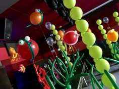 Under the sea theme , created for a night club event , loads of fun ! Seaweed , fish and octopus balloons made for the Occassion all helium filled