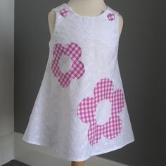 Embroidery Anglaise, Pink Gingham Dress