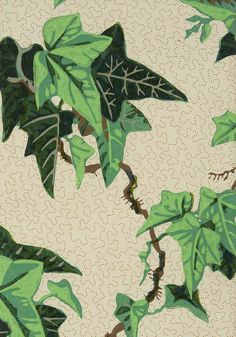 William Woollams & Co. Ivy wallpaper design, 1849 (The Textile Blog)