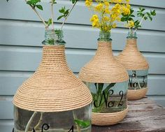 Wine Jugs and Jute :: Hometalk