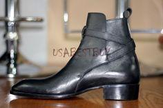 New Handmade Mens Latest Jodhpur Ankle Boots with Leather Sole, Men leather boot #Handmade #Jodhpurs