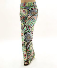Green & Pink Abstract Palazzo Pants #zulily #zulilyfinds
