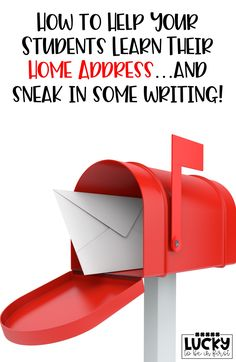 Learning a home address can be tricky for young students! Help your students learn their home address...and sneak in some writing!