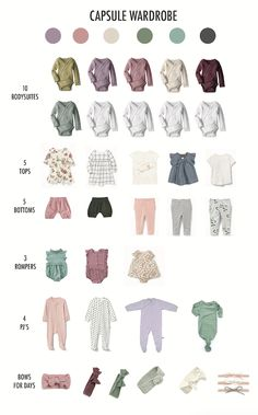 Baby Girl Color Pallete Capsule Wardrobe Months Baby Girl Color Pallete Kapsel Kleiderschrank Monate This image has. Baby Outfits, Newborn Outfits, Baby Monat Für Monat, Minimalist Baby, Colour Pallete, Baby Boy Newborn, Baby Baby, Baby Sleep, Baby Winter