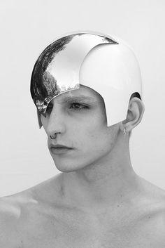 Manuel Albarran #helmet #silver