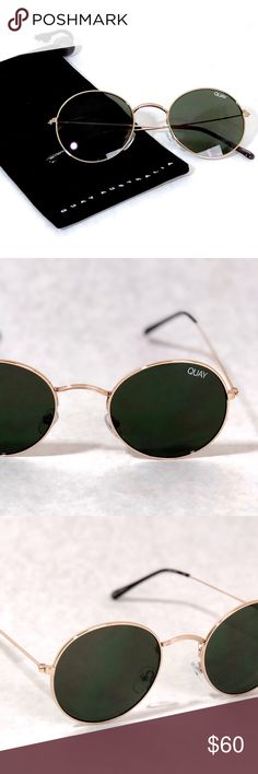 Quay Australia Mod Star Green/ Gold Sunglasses Brand new w/ tags.  100% authentic. Includes bag.  These are actual photos of the sunglasses I Took. Quay Australia Accessories Sunglasses