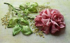 I ❤ ribbonwork . . . Beautiful Varigated Rose  ~From ISI DunyasI Melisin