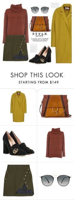 """""""Having a Fall moment in Spring..."""" by badassbabyboomer ❤ liked on Polyvore featuring Chloé, Gucci, Diane Von Furstenberg, self-portrait and Ray-Ban"""