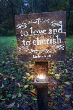 To love and to cherish.  Jeff & Katie.