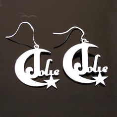 Glow like the moon and shine like the stars with this set of customizable earrings! Choose between 18K Gold, Platinum Silver, or Rose Gold, designs, and let your magical soul shine! Gold Platinum, 18k Gold, Custom Jewelry, Jewelry Box, Or Rose, Rose Gold, Soul Shine, Gold Designs, Stars And Moon
