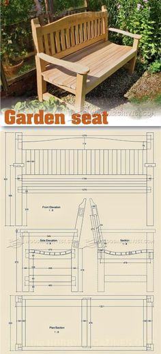 Garden Seat Plans - Outdoor Furniture Plans and Projects   WoodArchivist.com