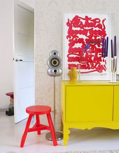 www.decocrush.fr | Anki and Casper colourful home in The Netherlands #yellow #ikea