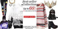 Romwe Flash Sale 72 Hours Only Huge Sale, Sweater Shop, Romwe, Fun To Be One, Best Sellers, Shop Now, Best Deals, My Style, Sweatshirts