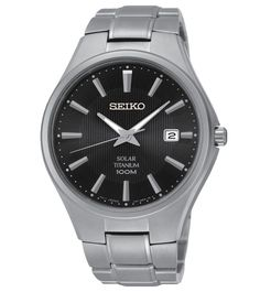 Seiko Titanium Solar Mens Watch SNE377P1