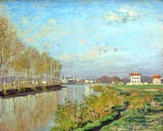 Claude Monet (French, Impressionism, 1840-1926): Argenteuil, The Seine; 1872. Oil on canvas. — 1398167_580662495321602_876778700_o.jpg (1000×810)