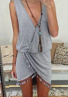 Plain Grey Ropmer: Summer Outfit Idea