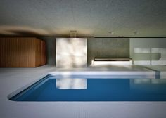 'La Piscina del Roccolo' is gorgeous luxurious indoor swimming pool designed by Italian architecture studio Act_romegialli. Set in a historic home in Italy, the Hidden Swimming Pools, Underground Swimming Pool, Swimming Pool Designs, Lap Swimming, Indoor Pools, Hotel Alpen, Moderne Pools, Pavillion, Cool Pools