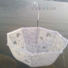 free shipping Laciness  lace transparent umbrella ,arch apollo umbrella princess rose wedding umbrella long handle tb278 $19.83