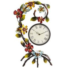 I might just have to buy this for you. and take it back :D Tropical Flowers Clock Summer Mantle Decor, Design My Room, Home Clock, Tropical Home Decor, Birds And The Bees, Shop Layout, Pier 1 Imports, Vintage Vibes, Tropical Flowers