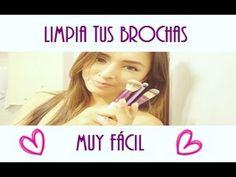 Limpia tus brochas de maquillaje muy fácil by Gelo Gabry - YouTube