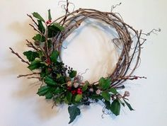 Winter Solstice Wreath designed by Local Color Flowers.