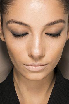 Neutral Lips, & Smudged with black kohl eyelids MakeupTrend for Spring Summer 2013.  Roland Mouret Spring Summer 2013.      #makeup  #trends